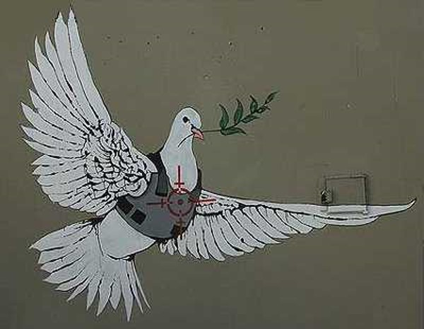 Art, Identity, and Culture » Banksy – Armored Dove